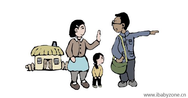家访漫画图片素材